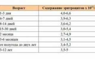 Эритроциты в крови у ребенка