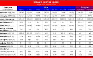 Общий (клинический) анализ крови: нормы, расшифровка + 9 таблиц