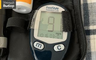 Контроль сахара в крови дома таблица